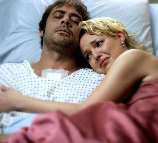 **Denny Duquette Jr (Jeffrey Dean Morgan)**  Izzy (Katherine Heigl) did everything in her power to try and save patient Denny, who she'd fallen in love with. He made it through a heart transplant, but then later died.  Alex (Justin Chambers) carrying a heartbroken Izzy out of the hospital is one of the show's most memorable scenes.