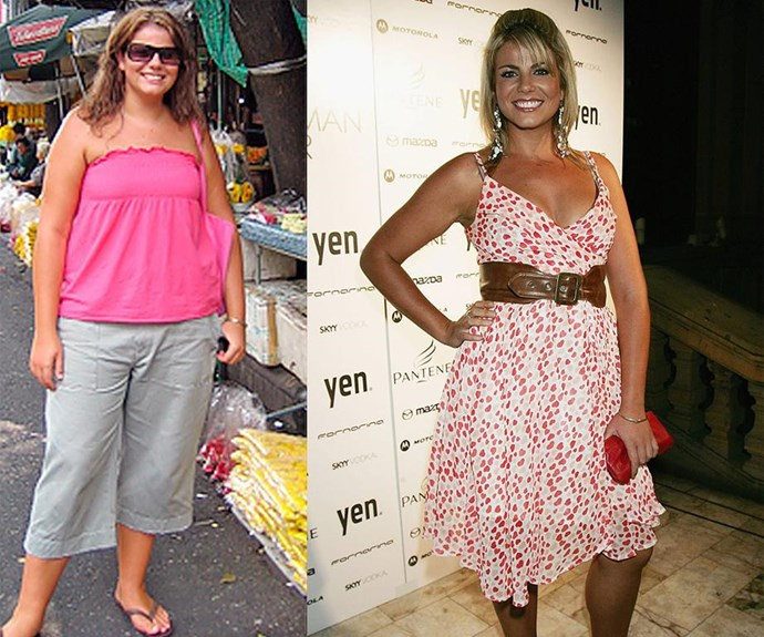 Before and after: In 2006, Fiona went from a size 20 to 12 on The Biggest Loser.