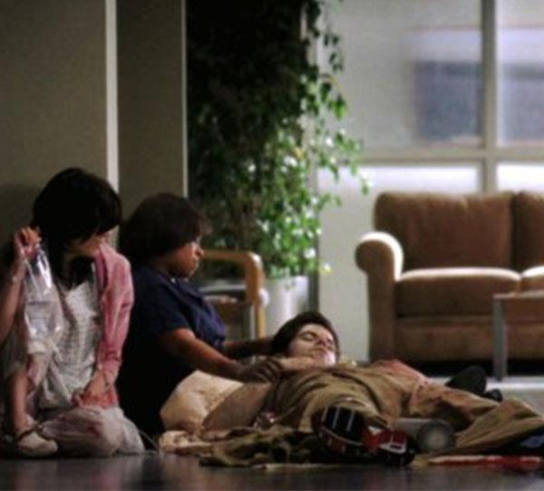 **Charles Percy (Robert Baker)**  The intern's death was one of the most tearful scenes to watch in Grey's Anatomy. After he was shot in the hospital shooting, Bailey (Chandra Wilson) tried in vain to save his life.  However she couldn't get Percy to a surgical room and he slowly bled out as Bailey held him in her arms.
