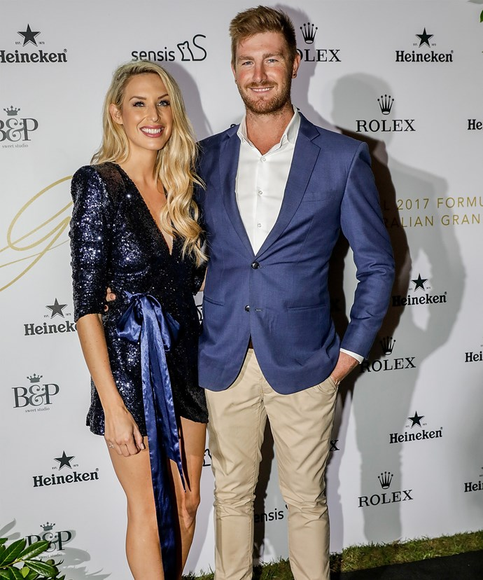Shaz and Nick glammed it up for date night at the Glamour on the Grid Grand Prix party in Melbourne on March 22, 2017.