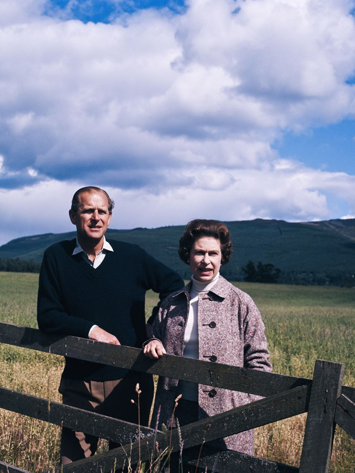 Is it just us, or are Prince Philip and Queen Elizabeth—on the grounds of their Scottish residence, Balmoral, in 1972—country weekender goals?