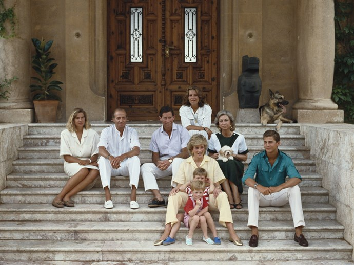 What's better than one Royal family? Two! Throwback to when Charles, Diana, William and Harry visited the Spanish royal family in Majorca for the chic-est joint family holiday ever.