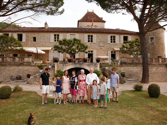 We wished our family gatherings looked like the Danish royal family's (pictured again at Château de Cayx).