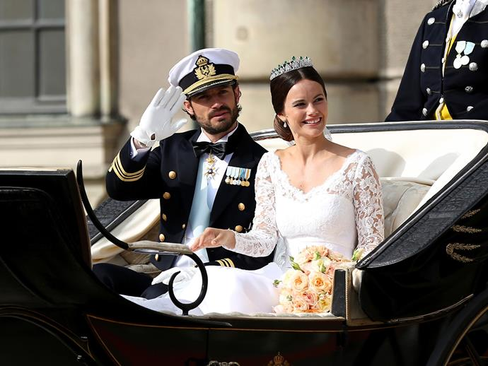 Then there was the nuptials of the (quite frankly, very unfortunate looking) Prince Carl Philip and Princess Sofia of Sweden, in Stockholm.