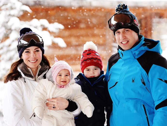 Speaking of snow, who can forget when little Charlotte made us want to put on a knitted pink beanie and join her, Kate, George and William in the French Alps?