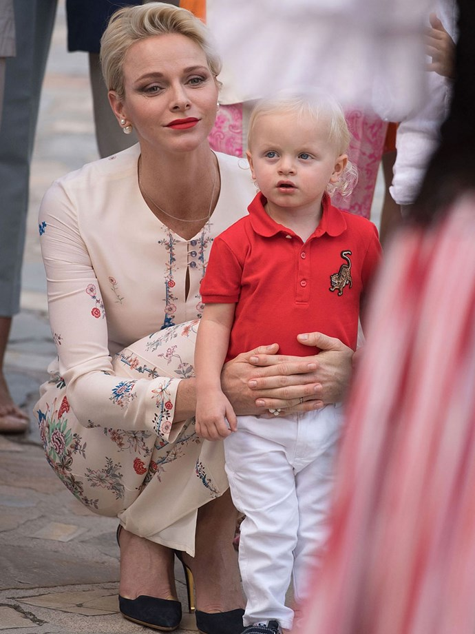 But the Swedes aren't the only Royals with adorable little ones. Princess Charlene and her son, Prince Jacques, give us serious mummy-and-me dressing goals.
