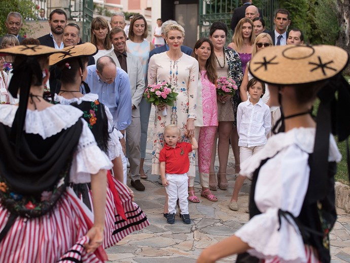 Here they are—along with Charlene's husband, Prince Albert II, and their daughter, Princess Gabriella—enjoying celebrations for the annual Pique Nique Monegasque (or 'picnic in the Principality'), held in Monaco.