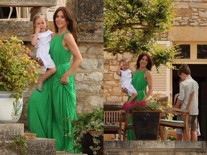Then there's Crown Princess Mary with her children at the Château de Cayx, a Danish royal residence (read: holiday house) in southern France.