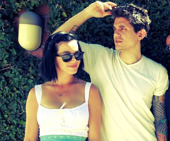 Katy and John in happier times.
