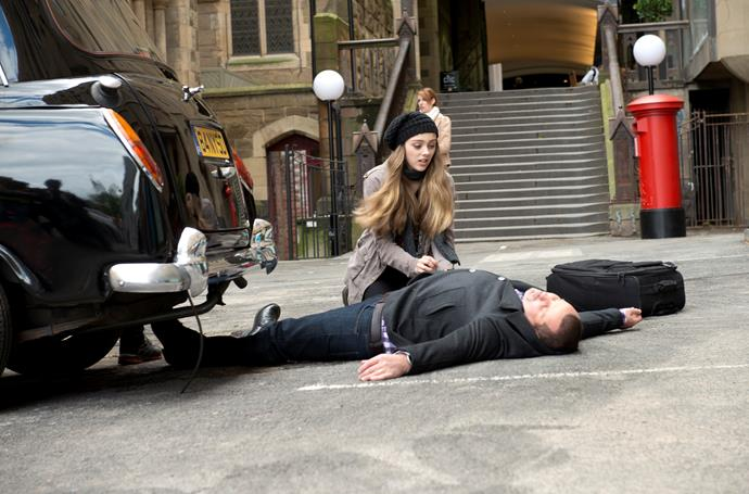 Toadie is hit by a car while attempting to avoid Willow.