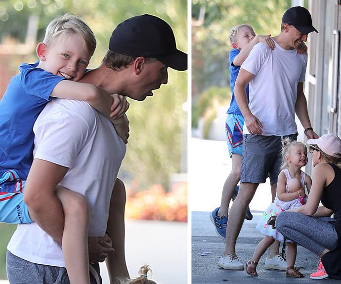 It is clear that Chris is completely taken with fatherhood.