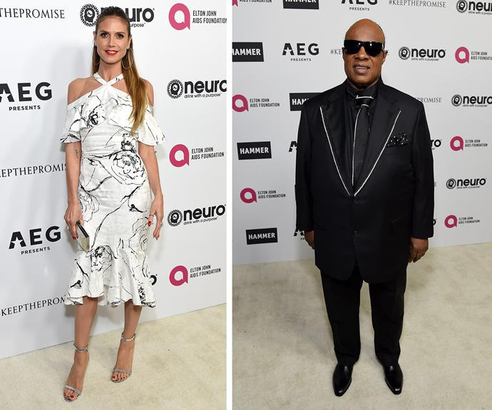 Heidi Klum and Stevie Wonder brought the star power.