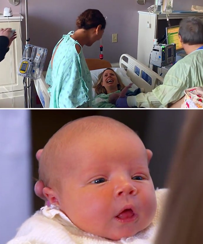 The moment the two mums come together for Baby Elyssa's birth will have you in tears.