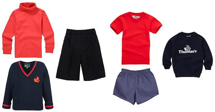 The winter uniform (L) and the sports uniform (R).