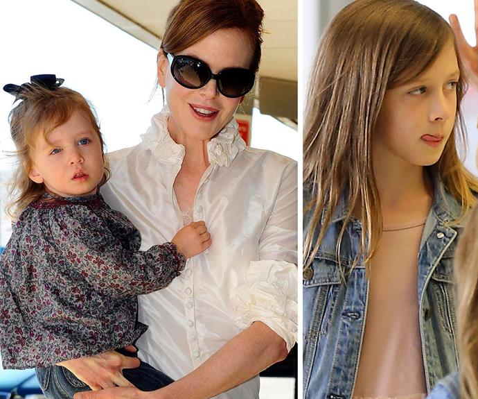 Now and then: Sunday Rose is her mum's double.