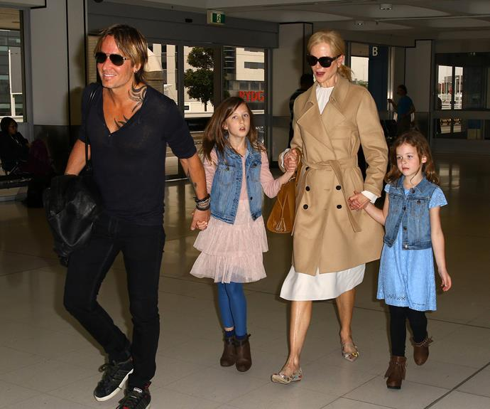 The jet-setting family were bound for LAX.