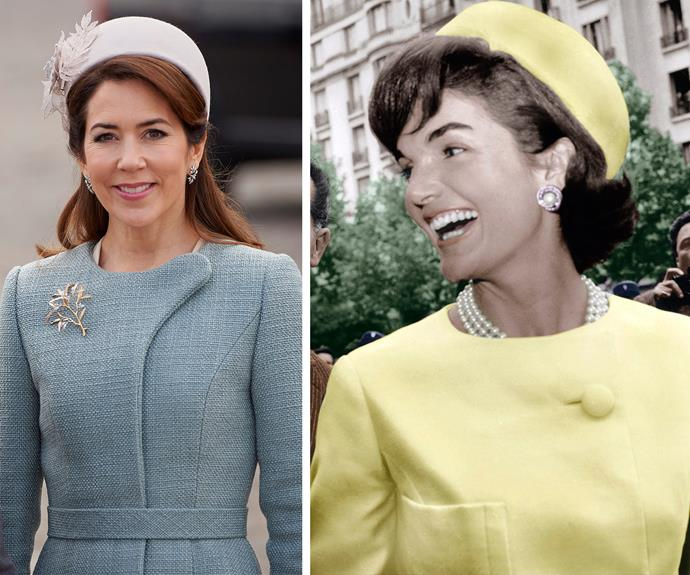 In fact, we think she channeled fashion royalty, Jackie O, with her choice of outfit.
