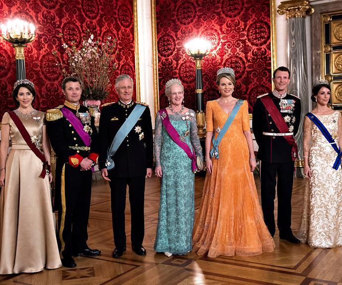 The gala dinner was held in honour of the Belgium royals.