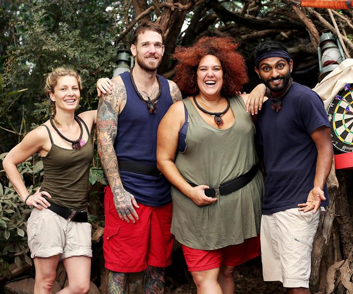 Naz and Dane were in the jungle together right up until the end.