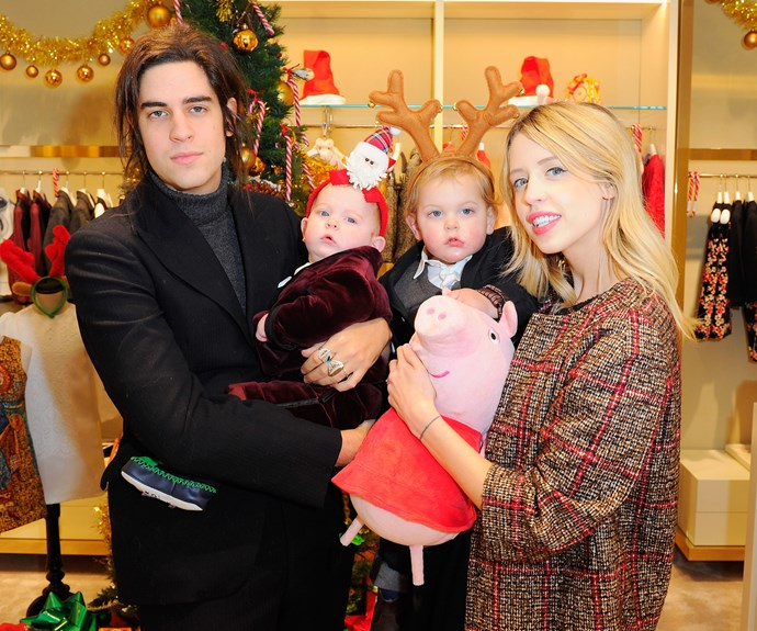 Thomas Cohen and Peaches Geldof with their two children in 2013.
