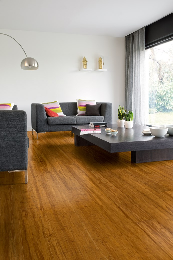 This light-filled living room is simplistic in design and seriously calming. If you're eager to make [eco-friendly choices](http://www.homestolove.com.au/how-to-make-your-home-more-eco-friendly-3073) when it comes to your home, consider using [bamboo flooring](http://www.quick-step.com.au/en-au/bamboo). Bamboo is harvested from carefully managed plantations which makes it a sustainable and eco-friendly material. *Photo: Quick-Step*