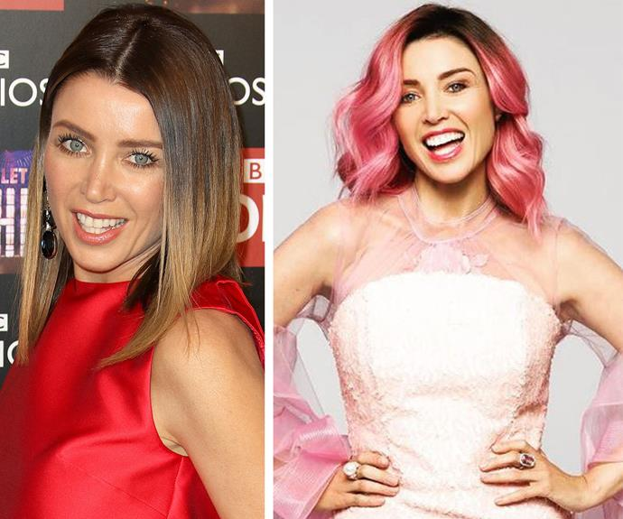 """[Dannii Minogue](http://www.nowtolove.com.au/fashion/red-carpet/dannii-minogue-ranks-tv-week-logies-dresses-36404) debuted her pastel pink locks at the Australian Hair Fashion Awards overnight, and as Dannii says """"pink hair don't care!""""..."""