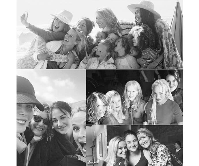 """Reece Witherspoon shared this collage on her Instagram captioned: """"I can't believe tonight is the final episode of #BigLittleLies! I have been so lucky to work with such fantastic people and am so overjoyed by the response this show has received. To all of the fans of the show, thank you! Y'all have been wonderful! Hope you enjoy the finale tonight."""""""