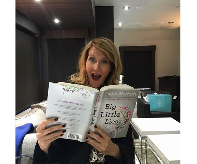"""I thought I should read up and get ready for tonight! #BigLittleLies #finale #hbo,"" actress Laura Bern wrote on this Insta snap."