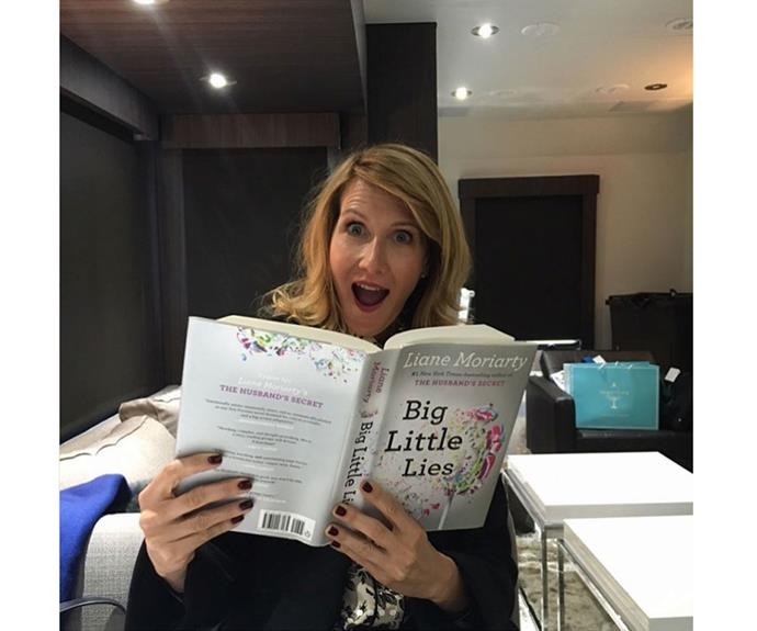 """""""I thought I should read up and get ready for tonight! #BigLittleLies #finale #hbo,"""" actress Laura Bern wrote on this Insta snap."""