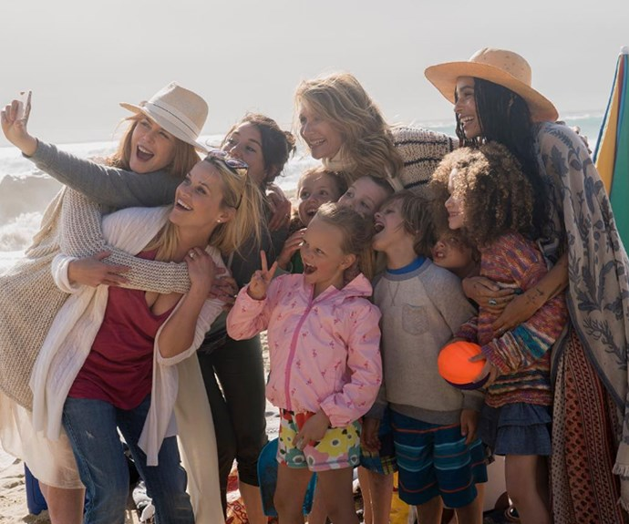"Zoë Kravitz posted this gorgeous cast shot: ""Tonight's the night! #biglittlelies finale! I love this project with all my ❤.... big shout out to my #biglittlelies family and big shout out to everyone who tuned in and came along for the ride."""
