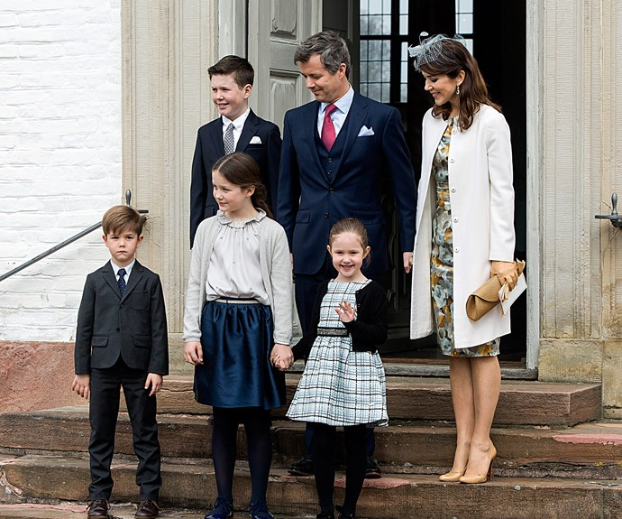 "It was a family affair as [Princess Mary,](http://www.nowtolove.com.au/royals/international-royals/princess-mary-greets-belgian-royals-danish-state-visit-36343|target=""_blank"") Prince Frederik and their four children gathered at the Fredensborg Palace church in Denmark to celebrate Prince Felix's confirmation on April 1."