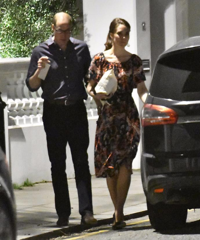 The royal couple enjoyed the relaxed evening out.