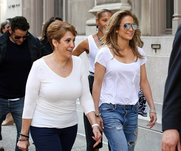 J.Lo and her mumma bear Guadalupe.