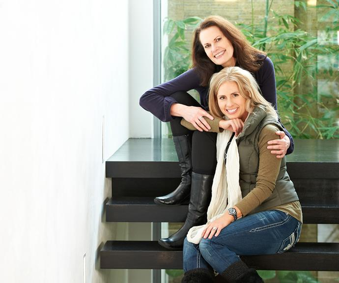 Heath's mother Sally Bell and sister Kate Ledger.