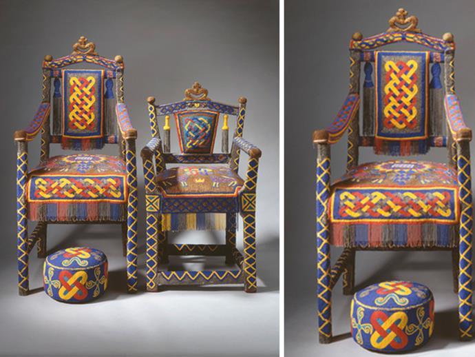 The Yoruba throne. Photo: Royal Collection Trust
