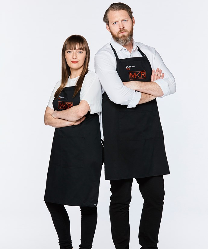 My Kitchen Rules contestants Courtney & Duncan.