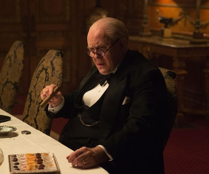 John Lithgow as Winston Churchill.