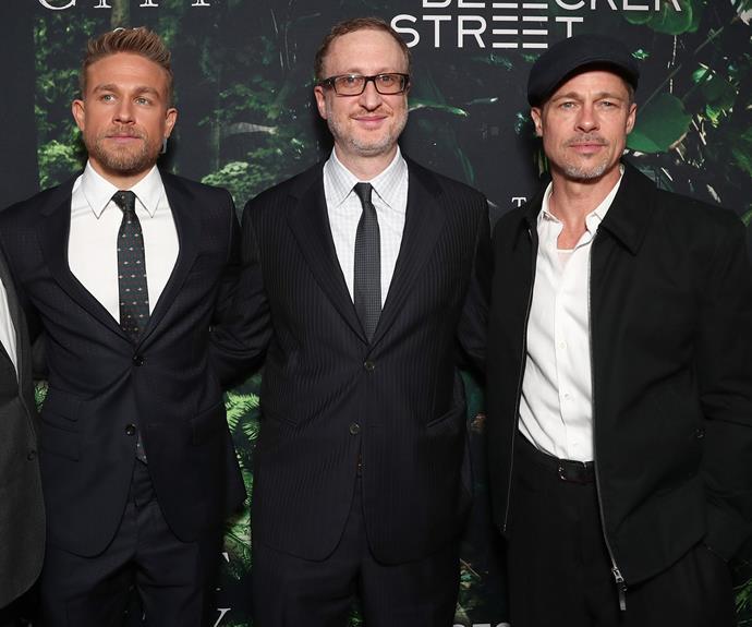 Actor Charlie Hunnam, director James Gray and executive producer Brad.