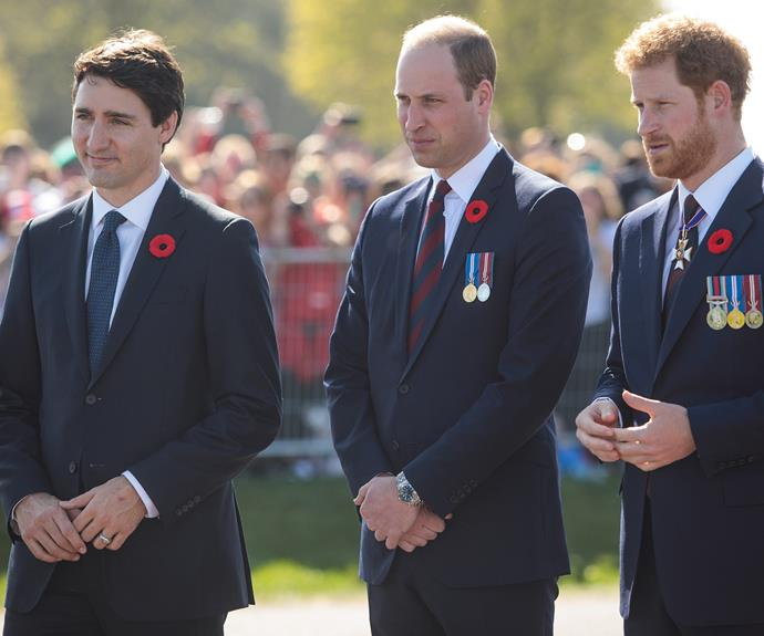 Canadian Prime Minister  Justin Trudeau  also joined the royals in Northern France.