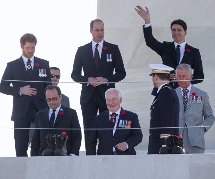The royal trio and the Canadian Prime Minister gathered at the Vimy Memorial Park in northern France for the historic event's 100th anniversary.
