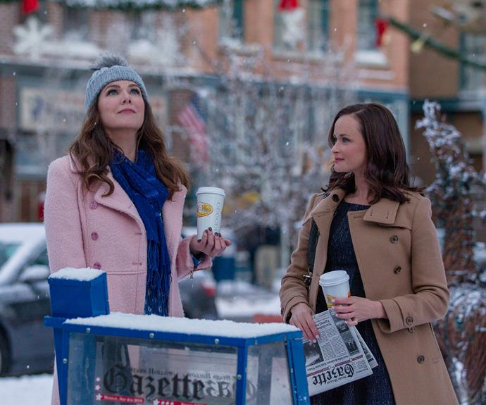 Lauren Graham and Alexis Bledel as Lorelai and Rory in the *Netflix's* *Gilmore Girls* revival.