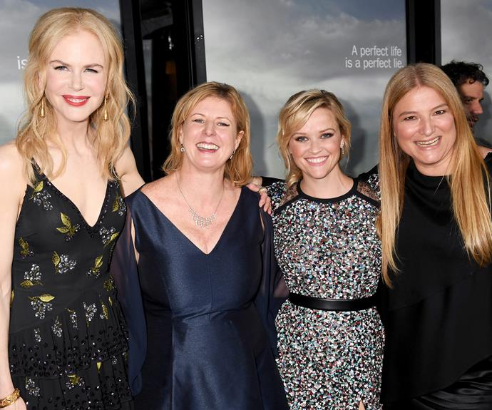 Nicole Kidman, Liane Moriarty, Reese Witherspoon and Bruna Papandrea at the show's premiere.
