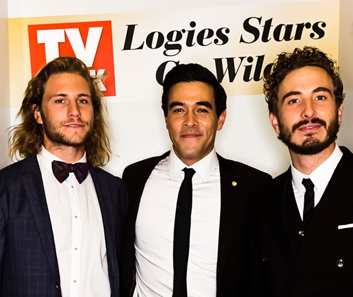 *Home And Away's* George Mason and James Stewart with Ryan Corr.