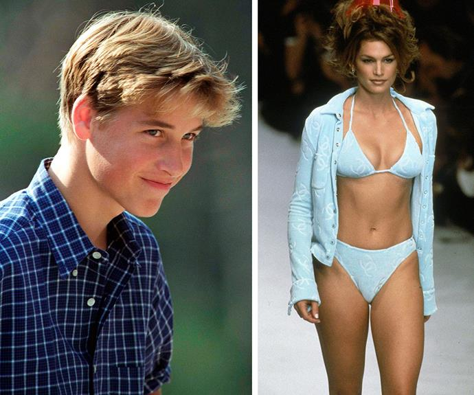 The face we imagine Wills made when he met Cindy Crawford.