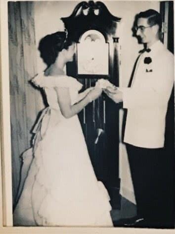 Joyce Kevorkian and Jim Bowman at prom.
