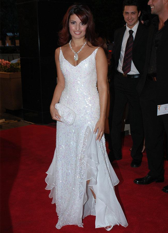 Ada Nicodemou was radiant in white at the 2003 Logies.