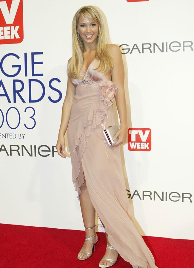 Bec Hewitt looked pretty in pink in 2003.