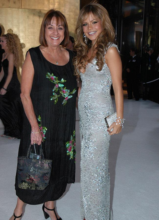 Denise Drysdale and Tammin Sursock donned floral and lace for the Logies in 2007.