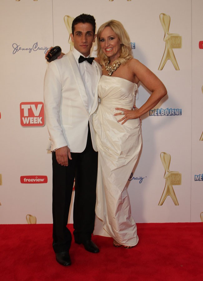 *House Husbands* star Firass Dirani with radio host turned actress Fifi Box at the 2010 Logies.