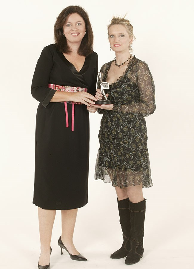 *Kath And Kim* stars and Logie winners Gina Riley and Jane Turner in 2003.